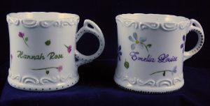 Celebrate Life 18 hand painted & personalized porcelain baby mug
