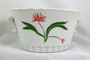 Celebrate Life 18 hand painted & personalized porcelain cachepot
