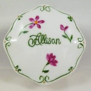 Celebrate Life 18 hand painted & personalized porcelain box