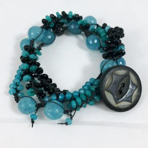 Celebrate Life 18 hand woven necklace and wrap bracelet with semi precious stone beads, personalized and based on gematria and numerology