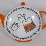 Celebrate Life 18 hand painted & personalized porcelain tray