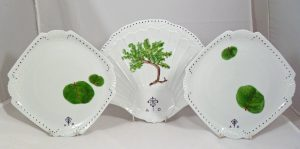 Hand Painted Personalized Porcelain Wedding Set, Tray and Small Plates for Wedding and Anniversary Gifts, Judaica, Calligraphy Hebrew and English