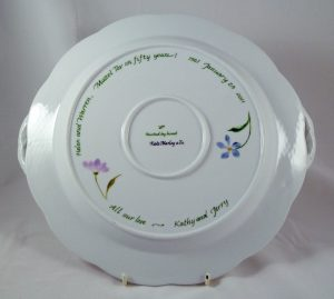 Celebrate Life 18, hand painted, personalized, porcelain tray, life cycle, gift wedding and anniversary, judaica
