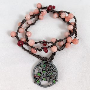 Celebrate Life 18 Hand woven necklace with meaning, gematria, numerology