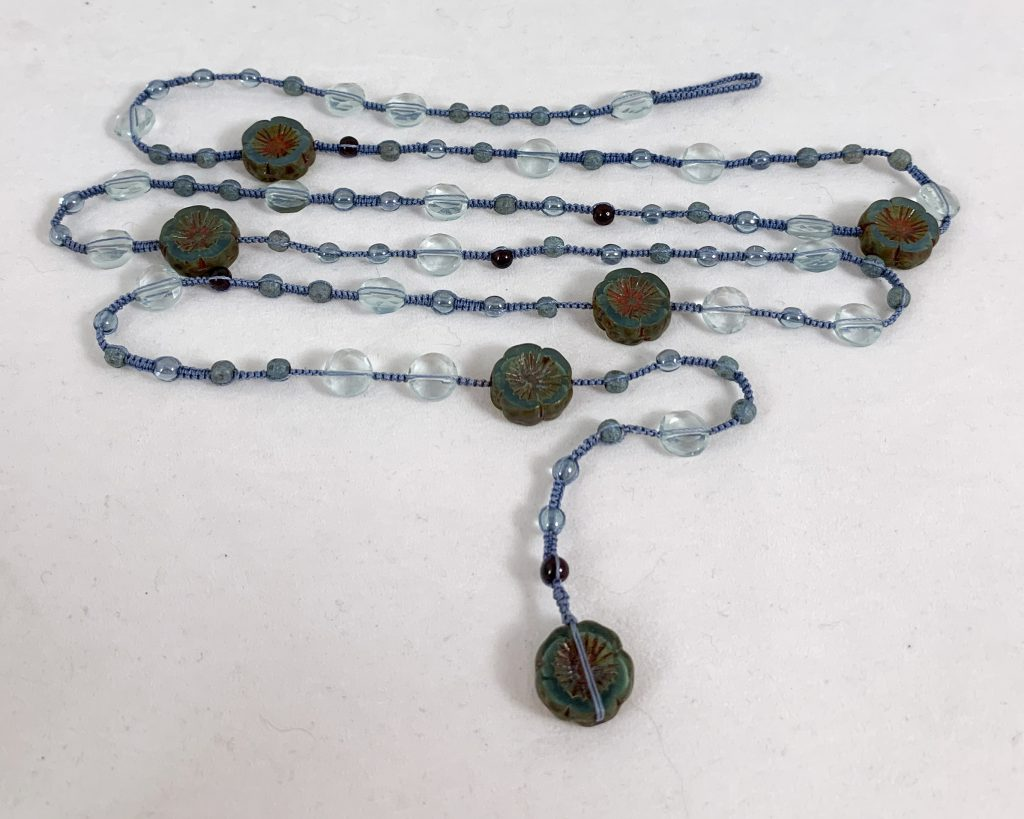 Celebrate Life 18 floating and hand woven custom necklaces and wrap bracelets with semi precious stone beads, with spiritual